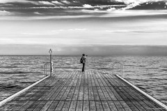Photography (Paweł Szczepański) Tags: ystad skånelän sweden se woman camera portrait pier sea seascape sonyflickraward artist skancheli trolled pinnaclephotography legacy daarklands shockofthenew