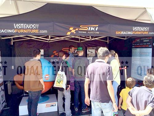 Carpas plegables, carpa de 3x4.5m personalizada para Siki Racing Furniture, carpas para ferias