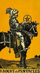 Knight of Pentacles (~ Lone Wadi ~) Tags: tarot tarotcard blackmagic occult fortunetelling sorcery retro 1910s knightofpentacles pentacles