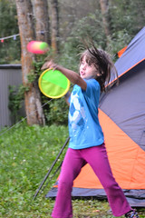 An Evening Game of Catch (Vegan Butterfly) Tags: people person camp camping outside outdoor play playing catch ball family game vegan child kid girl cute adorable homeschool homeschooling