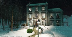 Christmas night (drayton.miles) Tags: christmas snow snowing lights shining love decor decorated house sim sl second secondlife slytherin miles drayton mischief managed mm magic mesh valentin valentine cute home reindeer deer apples snowman winter night cosy present