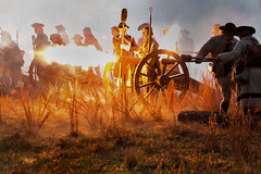 The Cannon's Roar (Rob Shenk) Tags: 4d revwar wideawake reenactment revolutionarywar americanrevolution cannon fire flame artillery history richmond virginia soldiers military
