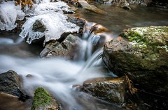 (bialobrody) Tags: stream winter flow water waterfall snow ice