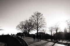 Enjoying the Last Sunrays (Niels A) Tags: people shadows kastellet import20170115 copenhagen