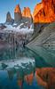 It hurts to get there, then the reward (PMTN) Tags: patagonia miradorlastorres torresdelpaine lake water lago água reflexos reflections sunrise nascerdosol pedronascimento canon