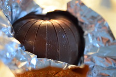 Orange peel macro monday (jan.ashdown) Tags: itsapeelingtomemacromonday segments confectionery sweets closeup close macro chocolateorange orangepeel orange chocolate peelings peel macromonday