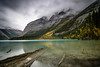 Kinney Lake, Mt. Robson Provincial Park (Sunny Herzinger) Tags: autumn jasper landscape travel fall low mountains xf14mm canada nationalpark britishcolumbia fujixpro2 clouds ca