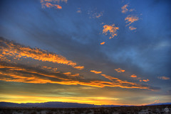 Desert Dusk Desiderata (splinx1) Tags: dusk desert cloud hdr california handheld pentaxart handhonedhorizon hss
