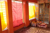 Red & Yellow Light (peterkelly) Tags: digital canon 6d india asia orchha temple red yellow room blinds blind window windows curtains light sunlight sunlit sun