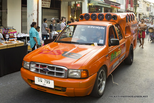 Cars and bikes of Old Phuket Festival