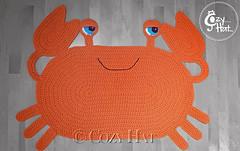 Crab Rug Handmade by Cozy Hat (Anastasia wiley) Tags: crab rug orange mat decor kids room cozyhat cozy hat handmade knit crochet craft creative anastasia wiley anastasiawiley