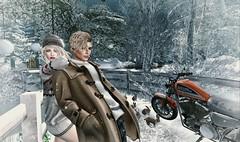 Lovely Snow Rabbit❤ (Luca Arturo Ferrarin) Tags: secondlife mill snow rabbit love couple beautiful lovely bike turlaccor