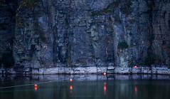 Walliwall (Premysl Fojtu) Tags: quarry walliwall kirkwall orkney water rock minimalistic simple rope buoys landscape canon 70200mm