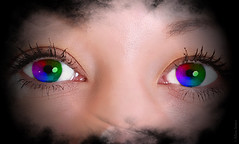 Rainbow eyes (Allan Jones Photographer) Tags: rainboweyes eyes face fx photoshop rainbow spectrum art artistic eyescloseup allanjonesphotographer canon5d3 canonef70200mmf4lisusm