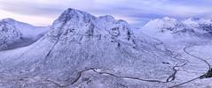 A Song of Ice and Snow (J McSporran) Tags: scotland highlands westhighlands glencoe buachailleetivemor buachailleetivebeag sronnacreise bideannambian lagangarbhcottage rivercoupall snow ice landscape