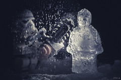 The Ice Sculptor (little ju !) Tags: ice scuplture sculptor lego stormtrooper chainsaw frozen