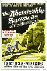Abominable Snowman Poster (kevin63) Tags: lightner old vintage poster advertisement odd movie abominable snowman yeti himalayas mountain petercushing foresttucker hammer bmovie drivein tibet beast dare see alone shadow cave regalscope