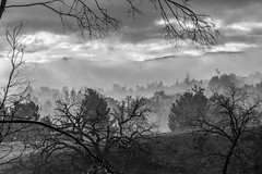 Fire Valley (Robert Borden) Tags: fog cloud rain landscape hills mountains firevalley calarts californiainstituteofthearts valencia santaclarita socal la losangeles westcoast california southwest usa northwest