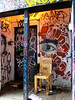 I See a Spot to Sit (Georgie_grrl) Tags: torontophotowalks social photographers friends outing topw2017rs graffitialley graffiti streetart expression creative colourful andrew friend pentaxk1000 rikenon12828mm alley