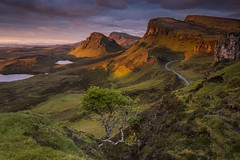 I was up at Stupid O'Clock . . . Explore 16-02-2017 #1 (Brad Eide) Tags: innerhebrides skye isleofskye scotland unitedkingdom quiraing distressedtree sunrise stupidoclock trotternish trotternishridge cleat beinnedra lochcleat lochleumnaluirginn staffinuig road mainland biodabuidhe dundubh interesting golden landscape clouds cloud bluesky grass clear view vista serene peaceful vibrant colourful early alone bradeide nikon d7100 nikon1024mm gitzo tripod remoterelease leefilter neutraldensity outdoor may 2014 geotagged