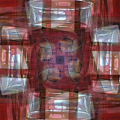Through A Glass Abstractly (unclebobjim) Tags: abstract abstractsquare red glass 4exposures rotation layers artdigital awardtree shockofthenew abstractcomposite