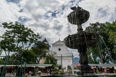 Parque Principal Santafe de Antioquia // Santafe de Antioquia Park (Nestor Velasco) Tags: park parque sky tree church water arbol agua nikon fuente iglesia cielo d5300 nikond5300