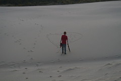 The boy's got a thing about hearts (rozoneill) Tags: beach oregon forest landscape coast florence sand baker outdoor hiking dunes dune trail national backpacking area recreation siuslaw wsweekly141