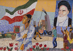 Propaganda With Ayatollah Khomeini Mural Painting, Shemiranat County, Tehran, Iran (Eric Lafforgue) Tags: street portrait people signs history sign horizontal painting advertising poster beard dead outdoors photography death mural memorial asia paint peace iran propaganda painted flag muslim islam persia icon billboard national memory hero posters billboards leader iranian tehran orient heroic islamic teheran imam ayatollah glorification commemorate khomeini glorify   colourimage  iro   shemiranatcounty iran150807