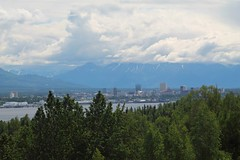 Anchorage Alaska (Willie Kalfsbeek) Tags: city trees summer green alaska clouds canon buildings ak anchorage willie kalfsbeek