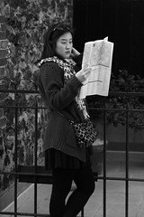 Finding the Way in Paris (717Images) Tags: woman paris reading map tourist directions guide