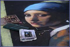 Madonnaro... la ragazza con l'orecchino (Maulamb) Tags: madonnaro gessetti laragazzaconlorecchino