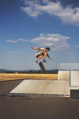 Hardflip (michaelofenloch) Tags: blue sky sports clouds concrete skateboarding skating bank skatepark skate skateboard spine asphalt bump hardflip vsco vscofilms