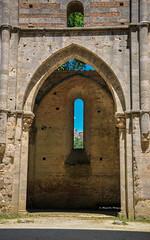 Abbey San Galgano, Tuscany (Andrea Mazzotta) Tags: italy church abbey saint nikon gothic arches monks tuscany siena hillside travertine cistercian galgano eremodimontesiepi d3x abbeysangalgano