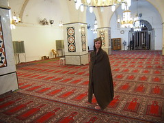 Anette's first time in a mosque!