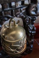 Bell (ExarchIzain) Tags: california ca bronze asian bell carmel decor brass