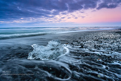 iceland-2012-4490- edit -- edit -.jpg (Joe Azure) Tags: iceland azure jazure sunrise sunset sandy landscape beach seascape blacksand ocean iceberg ice icebergs
