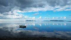 Egadi islands - Sicily (I. Bellomo) Tags: egadiislands isoleegadi egadi favignana mare saline trapani sea cielo sky boat blue cloud wind isola isole sogno dream italy