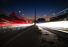 Project 365; #19; Sunset & Light Trails @ Great West Road! (iMalik1) Tags: project 365 oneimageaday onephotographaday onepicaday onepictureaday photographoftheday day photograph light trails london brentford great west road mile red white long exposure sunset blue hour motion blur movement traffic cars motorway freeway buses motorbikes motorcycle low key lighting nd filter tripod lowperspective multiple images hdr imalik canon eos m3 landscape canoneosm3 mycanon canonwhatelse canonuk uk photos canonphotos