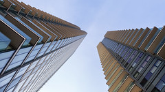 The Landmark Towers (www.paulshearsphotography.com) Tags: 1320second 1635mmf4 16mm 2016 20th 20thjanuary2016 22marshwall 6d abstract afternoon appartments balconies black blue britain buildings canon canonef1635mmf4lisusm canoneos6d city cityscape clouds e14 england flats gold handheld high highrises homes iso400 january landmarktowers leadinglines london lookingup marshwall paulshears paulshearsphotography purple sky skyscraper thelandmark thelandmarktowers towers uk unitedkingdom urban urbanlandscape white yellow f63 wwwpaulshearsphotographycom ©2016paulshears