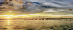 Warm Sunrise Light (Ah Wei (Lung Wei)) Tags: penang penangisland georgetown pulaupinang malaysia georgetownpenang my sunrises sunrise landscape seashore seascape nikon50mmf18g 50mmf18g nikond750 nikon ahweilungwei dovejetty jelutongexpressway jelutongfishermenwharf penangbridge goldenhour panorama panoramic sunlight sunshine