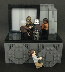 TFA: I'm in charge now Phasma (Beɳ) Tags: lego starwars starkillerbase hansolo rey finn chewbacca captainphasma firstorder