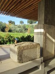Roman tombstone and overhang, Volubilis, Morocco (Paul McClure DC) Tags: morocco almaghrib fèsmeknèsregion volubilis jan2017 roman architecture historic sculpture