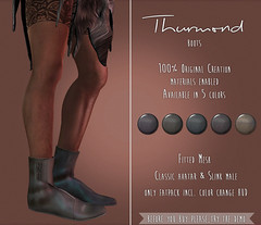 Thurmond Boots @ StormWood Hills Fair (Deb3ie Resident) Tags: stormwoodhills fair swh fantasy magic medieval sl secondlife secondllife event exclusive mesh slink flat boots hud colorchangehud roleplay vikings viking