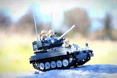 """""""Cross-Country"""" (ABS Defence Systems) Tags: lego tank afv light cvrt scimitar outside outdoors bley vehicle tracked brickmania track links prototype"""