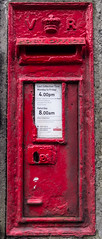 VICTORIAN. STILL IN USE (I.K.Brunel) Tags: halton lancaster lune victorian red postoffice wall