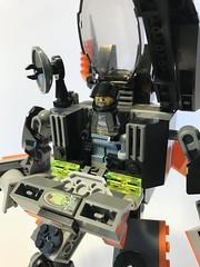Assault Suit (KGoodlow) Tags: lego mecha mech guns missiles orange robot walker