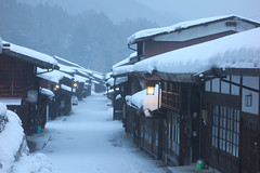 winter street (k n u l p) Tags: winter street snow old ancient nagano kisoji narai sony rx100 奈良井 木曽路 長野