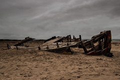 Wooden Wreck (Mark Wasteney) Tags: wreck wood wooden ship boat shipwreck abandoned beach sand braunton seaside devon northdevon westcountry seascape clouds storm rotting decay canon100d canon16mm35mmf28