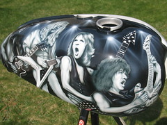 "Guitar Hero Tank (""Gutz"") Tags: guitar hero motorcycle tank chopper bike custom paint airbrush airbrushed airbrushing"