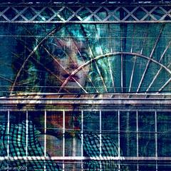 Saying Goodbye (Lemon~art) Tags: goodbye parting sad lonely alone window woman mannequin texture manipulation